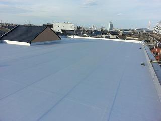 屋上防水工事施工後の様子