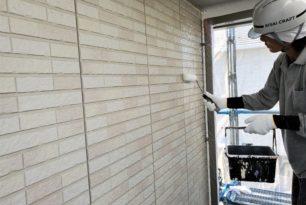 外壁下塗り塗装を行いました(^^)