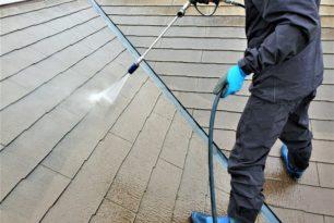 菰野町 外壁、屋根洗浄💧